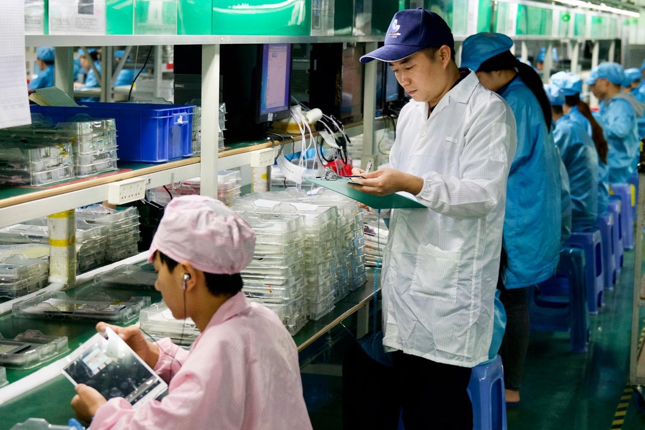 Suivi de production en Chine
