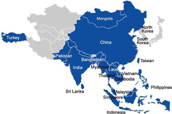 Carte des inspections du Vietnam en Inde